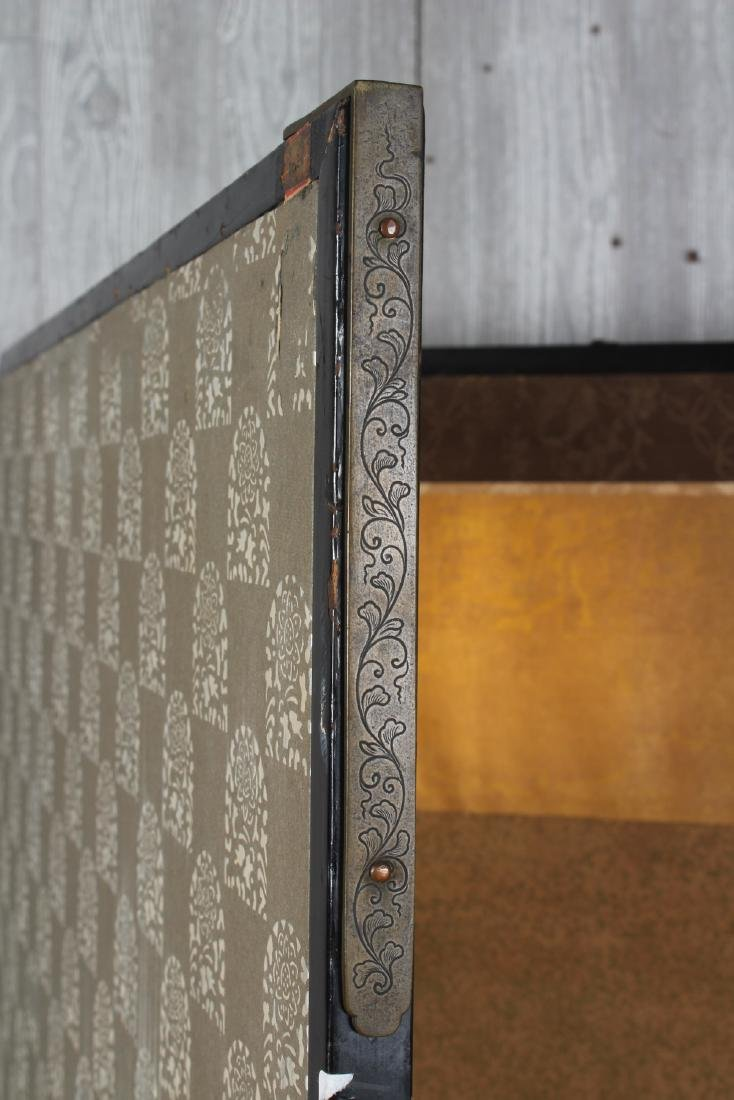 Japanese Painted Folding Screen - 5