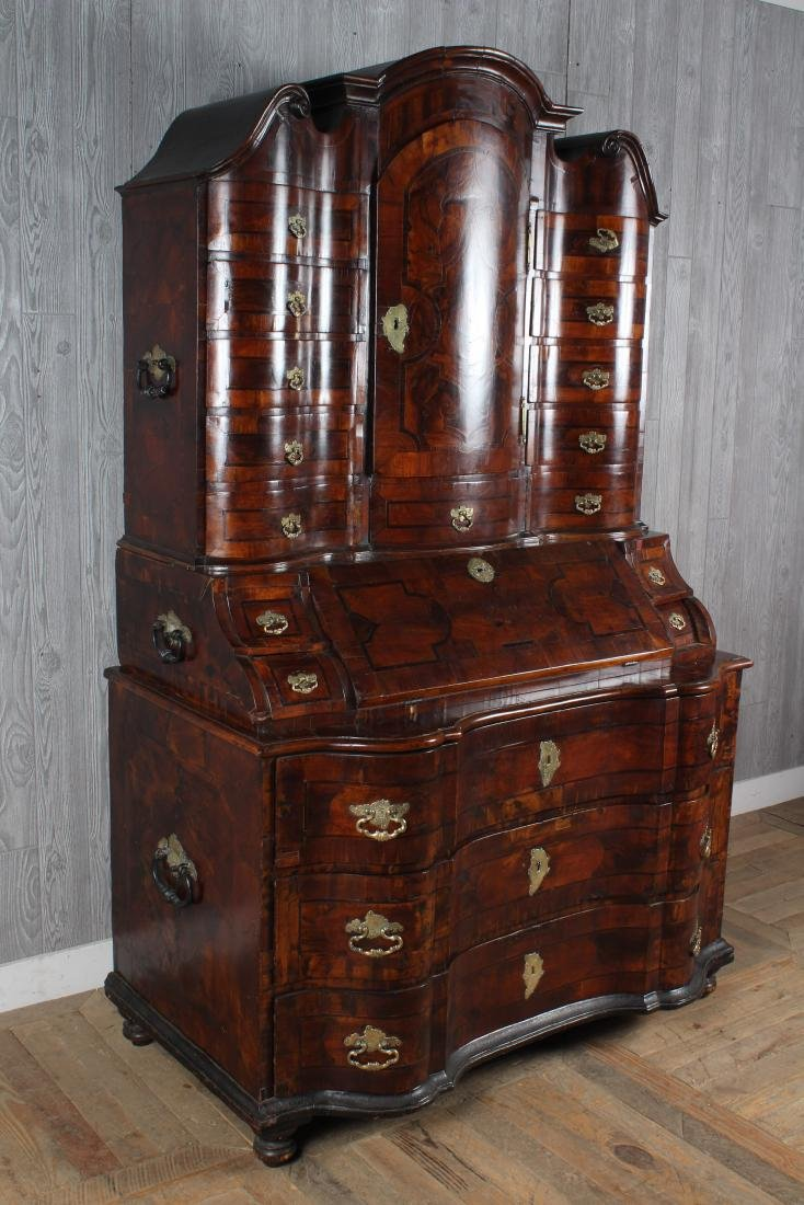 Late 18th C Continental Marquetry Secretary - 3