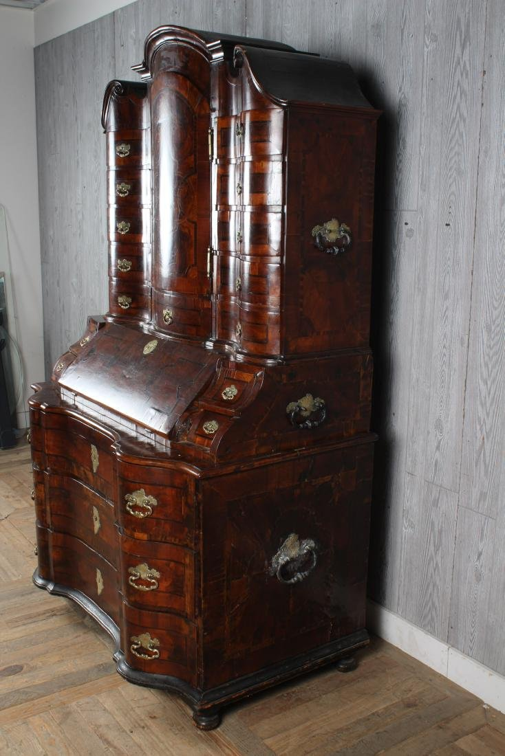 Late 18th C Continental Marquetry Secretary - 4