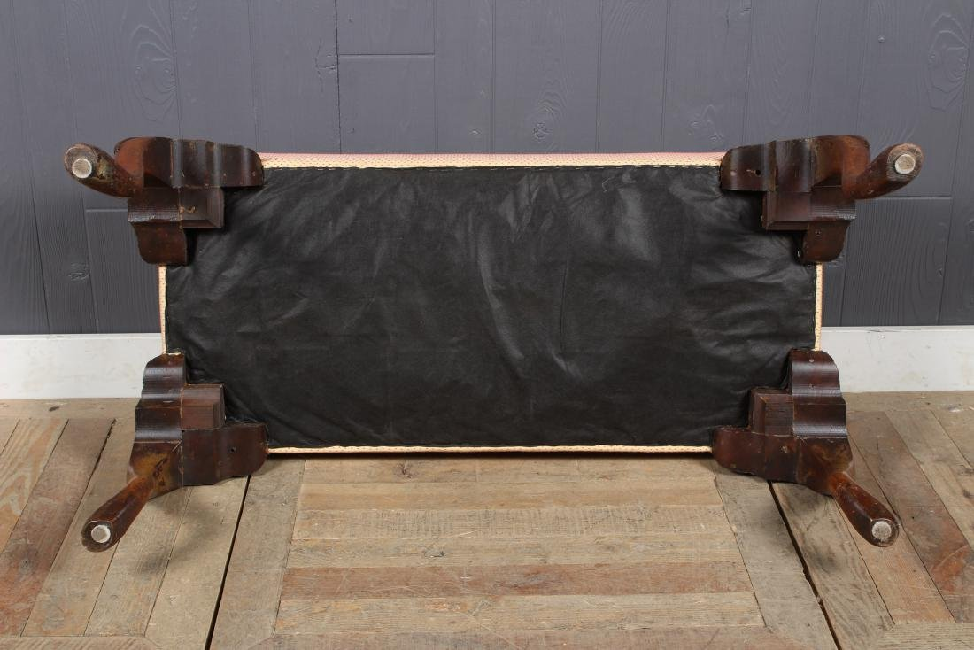Queen Anne Style Upholstered Bench - 4