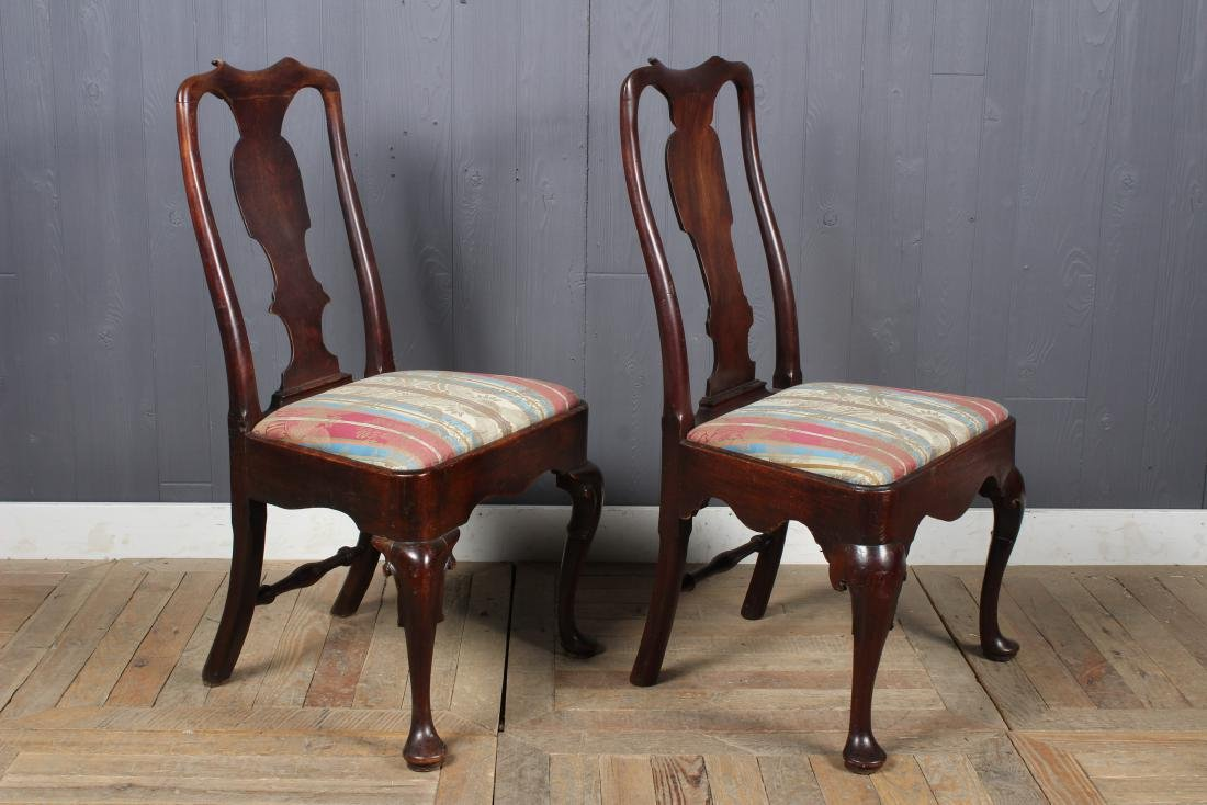 2 Similar Queen Anne Style Side Chairs