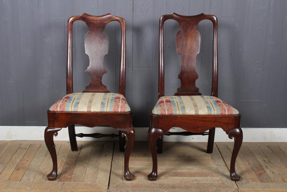 2 Similar Queen Anne Style Side Chairs - 2