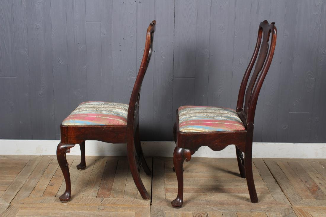 2 Similar Queen Anne Style Side Chairs - 4