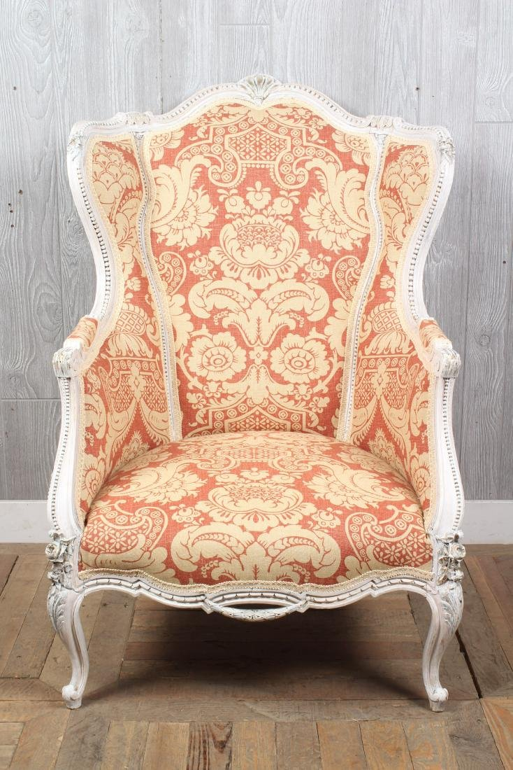 Louis XV Style Wingback Bergere - 2