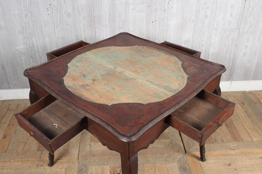 Louis XV Style Games Table - 4