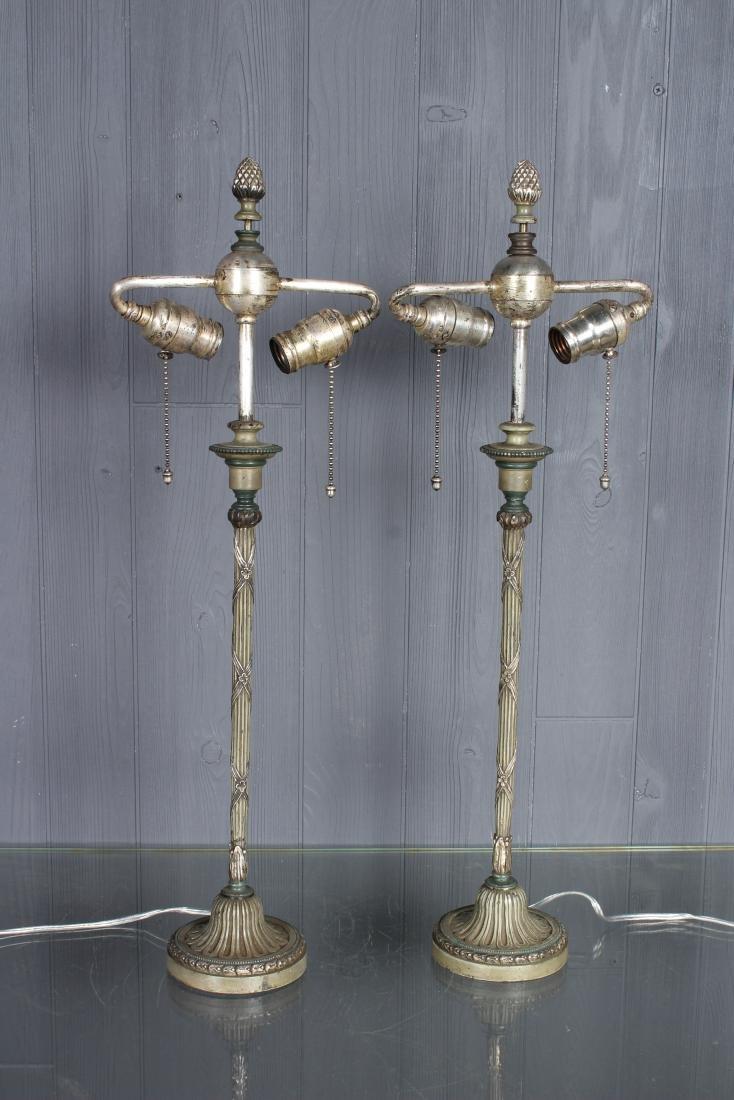 Pair Regency Style Lamps