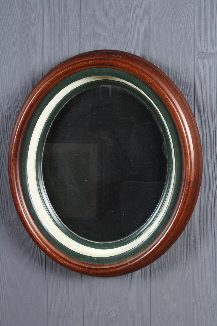 Antique Deep Cove Molded Wood Framed Mirror