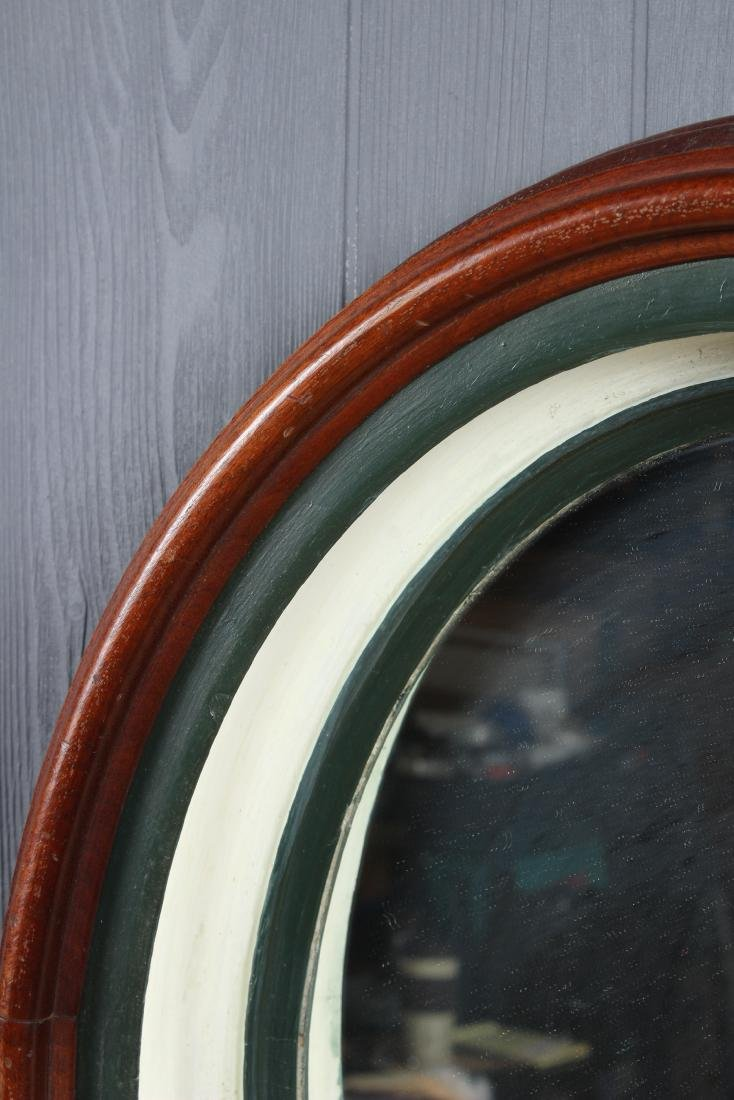 Antique Deep Cove Molded Wood Framed Mirror - 3