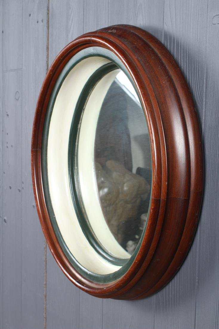 Antique Deep Cove Molded Wood Framed Mirror - 4