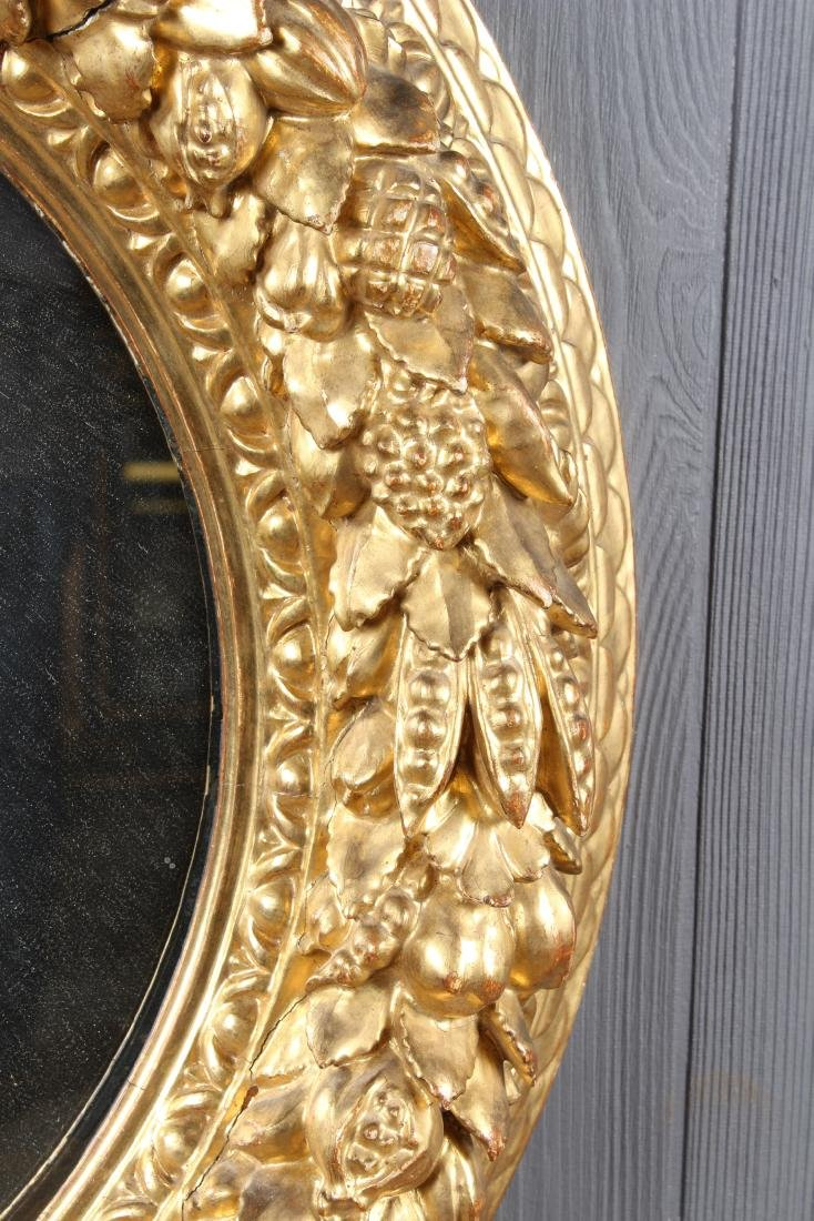 Continental Carved Giltwood Porthole Mirror - 2