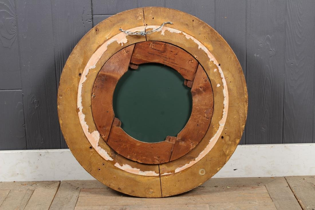 Continental Carved Giltwood Porthole Mirror - 4