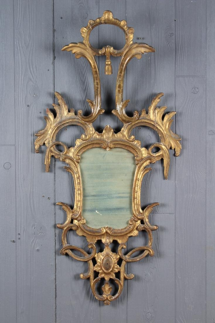 Chippendale Style Carved Giltwood Mirror