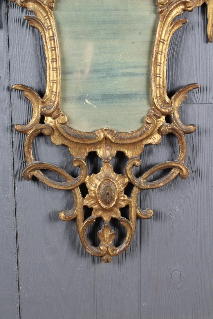 Chippendale Style Carved Giltwood Mirror - 2