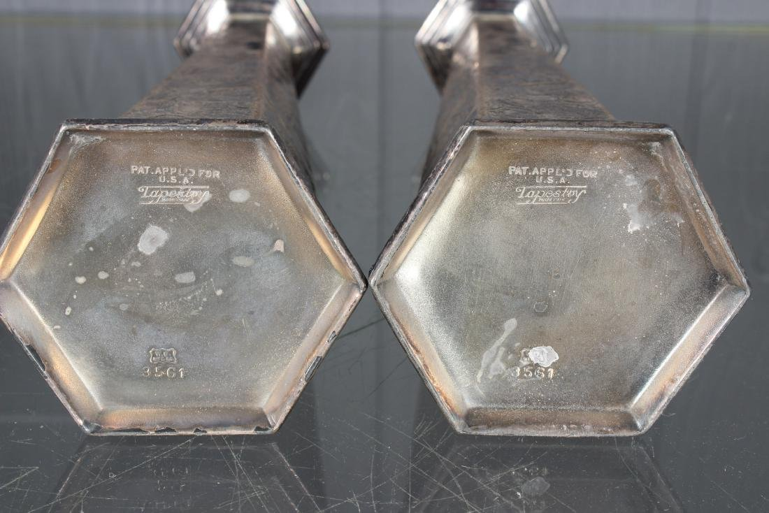 Pair Weidlich Brothers Silver Plate Candlesticks - 3