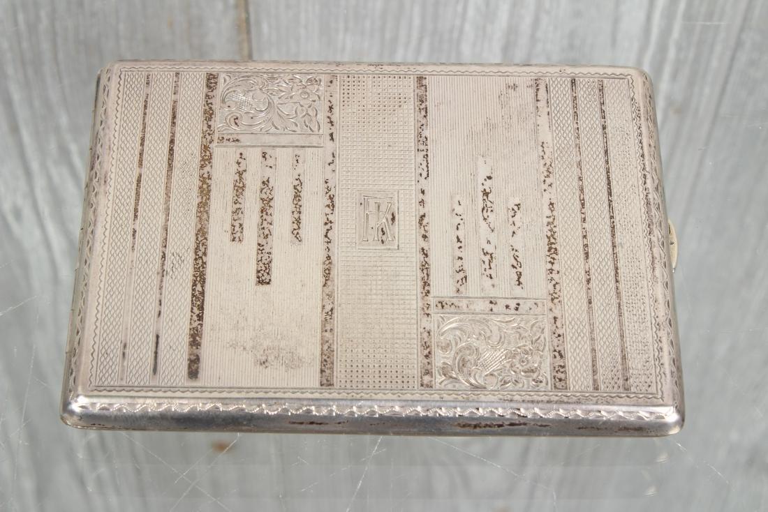 900 Silver Czechoslovakia Cigarette Case