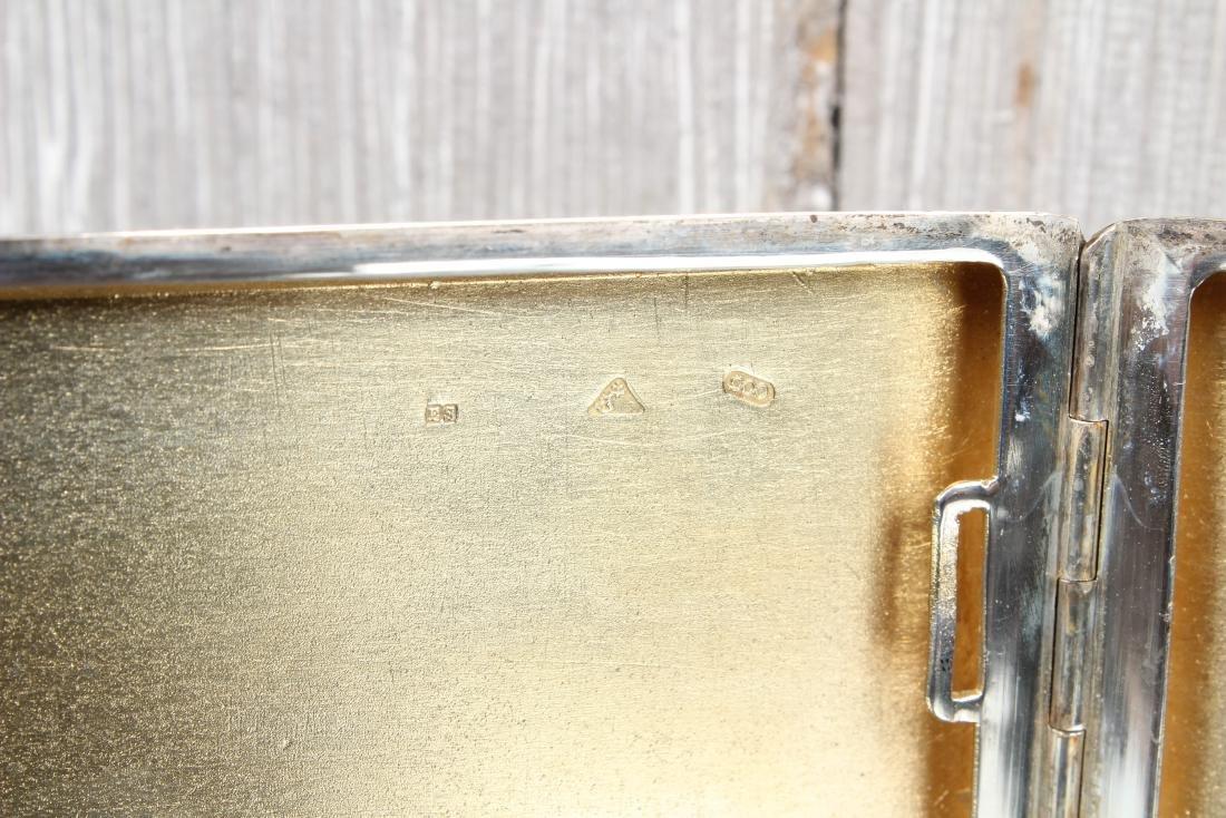 900 Silver Czechoslovakia Cigarette Case - 4