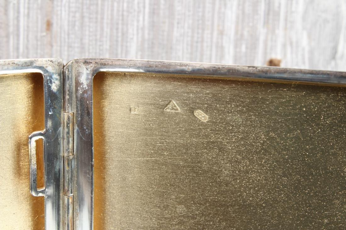 900 Silver Czechoslovakia Cigarette Case - 5