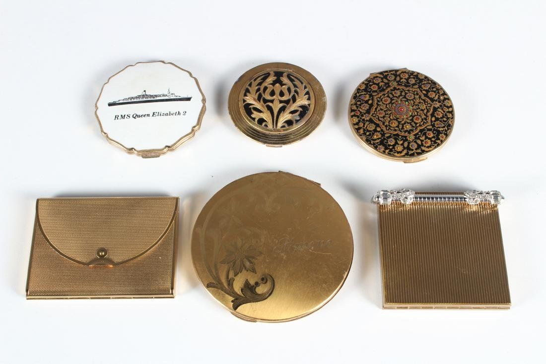 Grouping of 6 Vintage Compacts