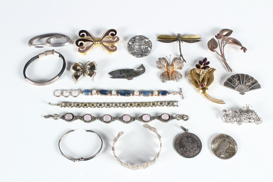 Assorted Vintage Sterling Jewelry - Some Signed
