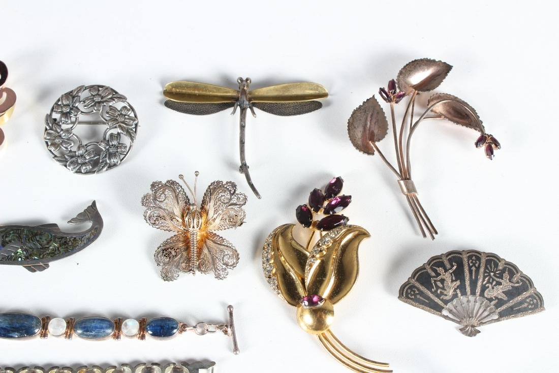 Assorted Vintage Sterling Jewelry - Some Signed - 3