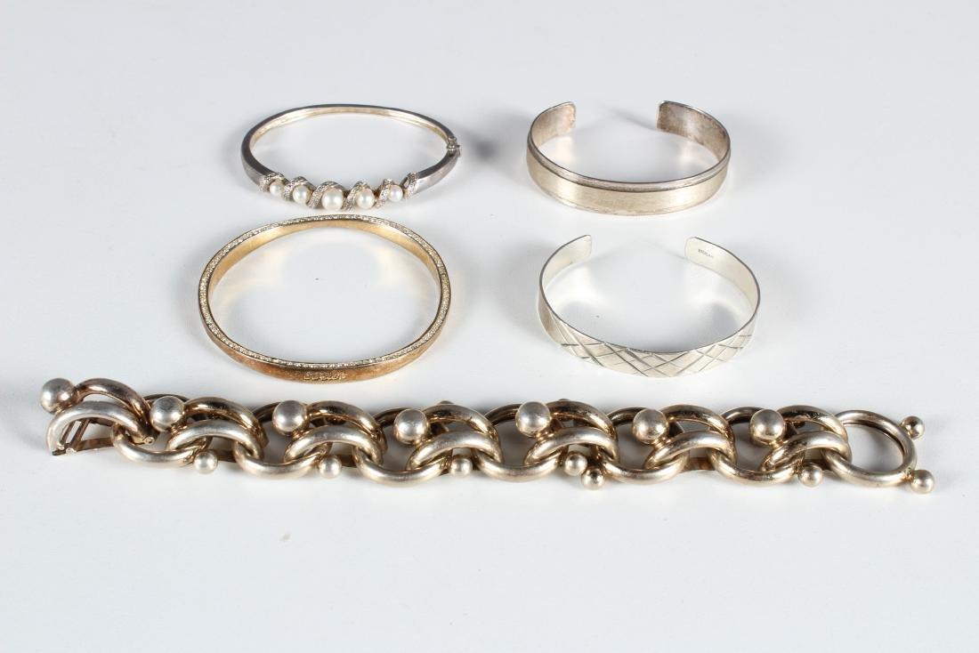 5 Sterling Silver Bracelets