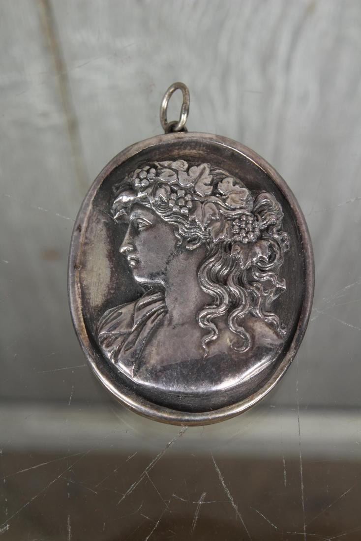 Henryk Winograd .999 Silver Repousse Pendant