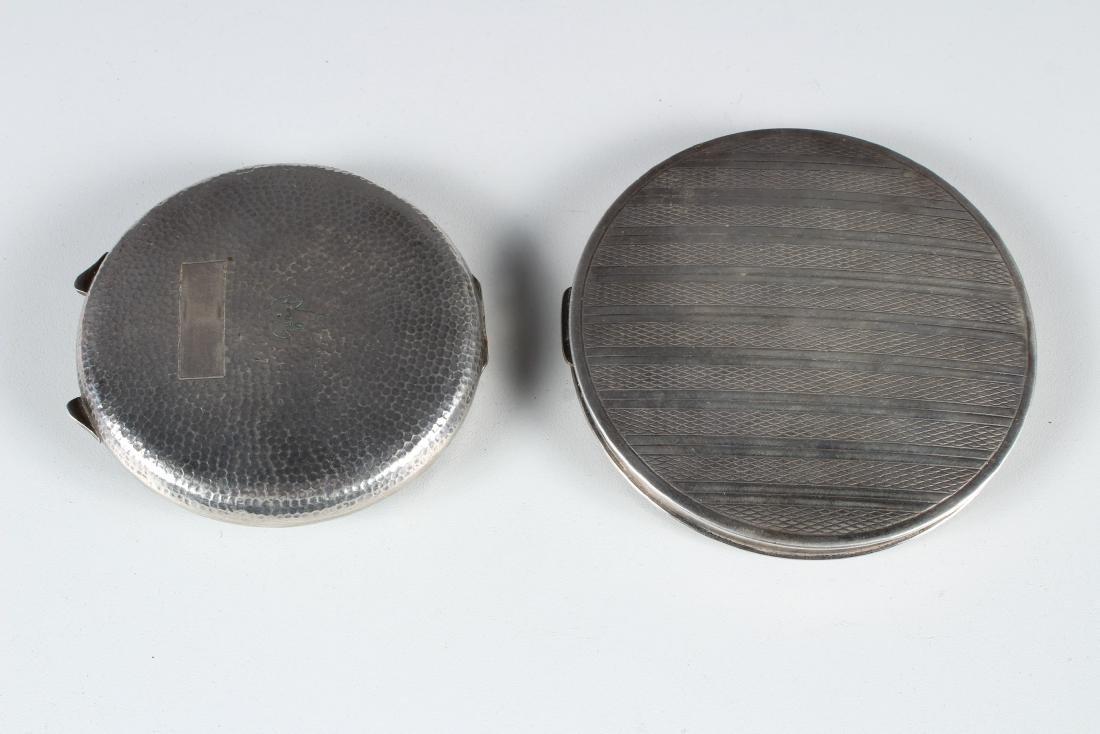 Two Silver Vintage Compacts - 2