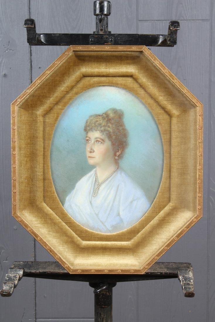 Antique Pastel Portrait of a Woman