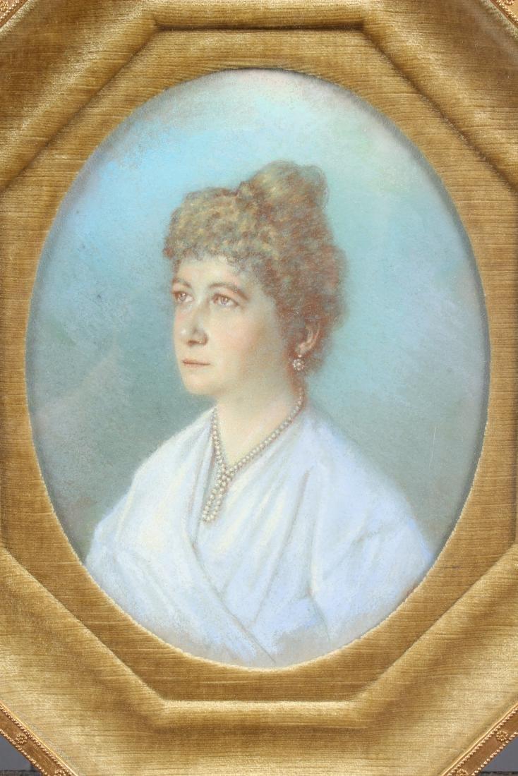 Antique Pastel Portrait of a Woman - 2