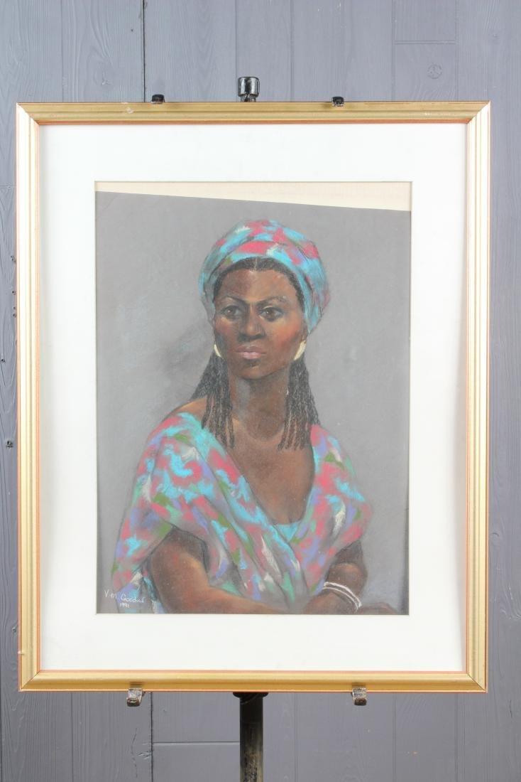 Pastel Portrait Signed VM Goodwin