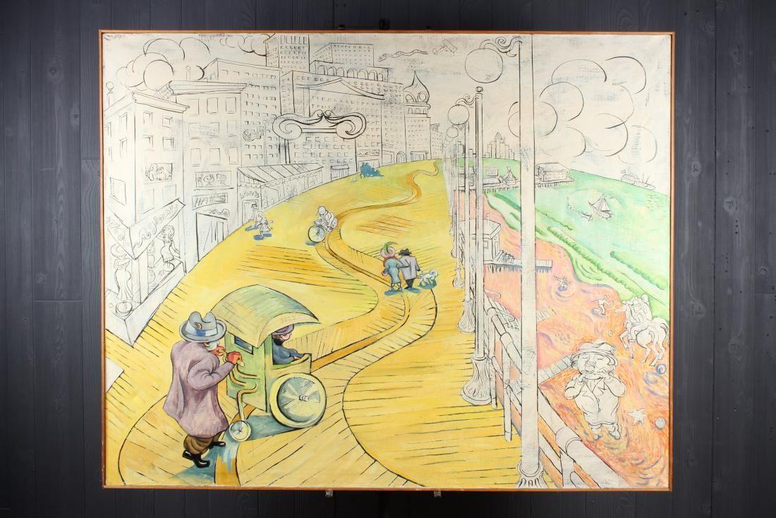 Unknown Artist. Atlantic City Boardwalk Vignette.