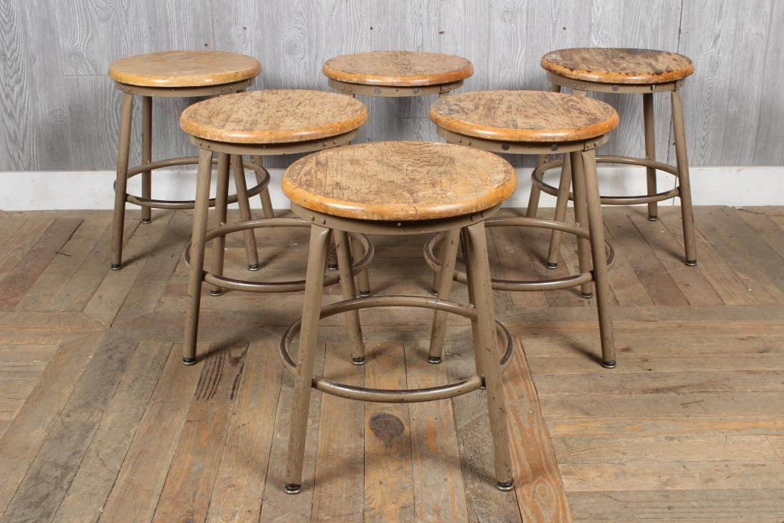 6 Industrial Stools