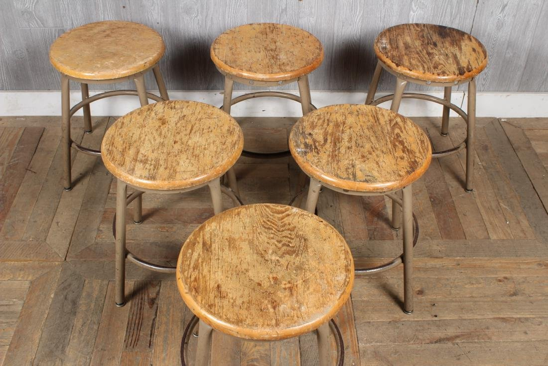 6 Industrial Stools - 2