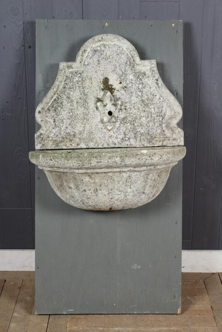Cast Stone Wall Mounted Garden Fountain