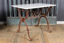 French Late 19th C. Cast Iron Bistro Table