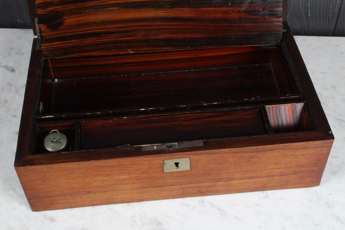 Antique Inlaid Lap Desk - 3