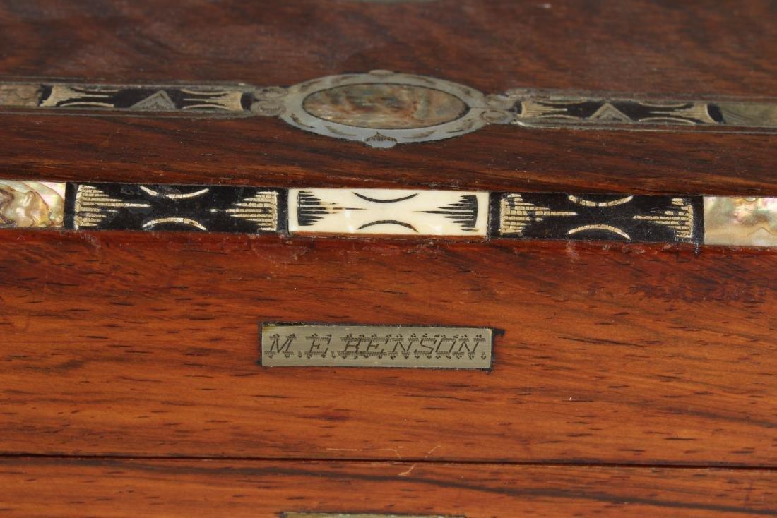 Antique Inlaid Lap Desk - 5
