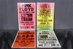 Group of Concert Posters