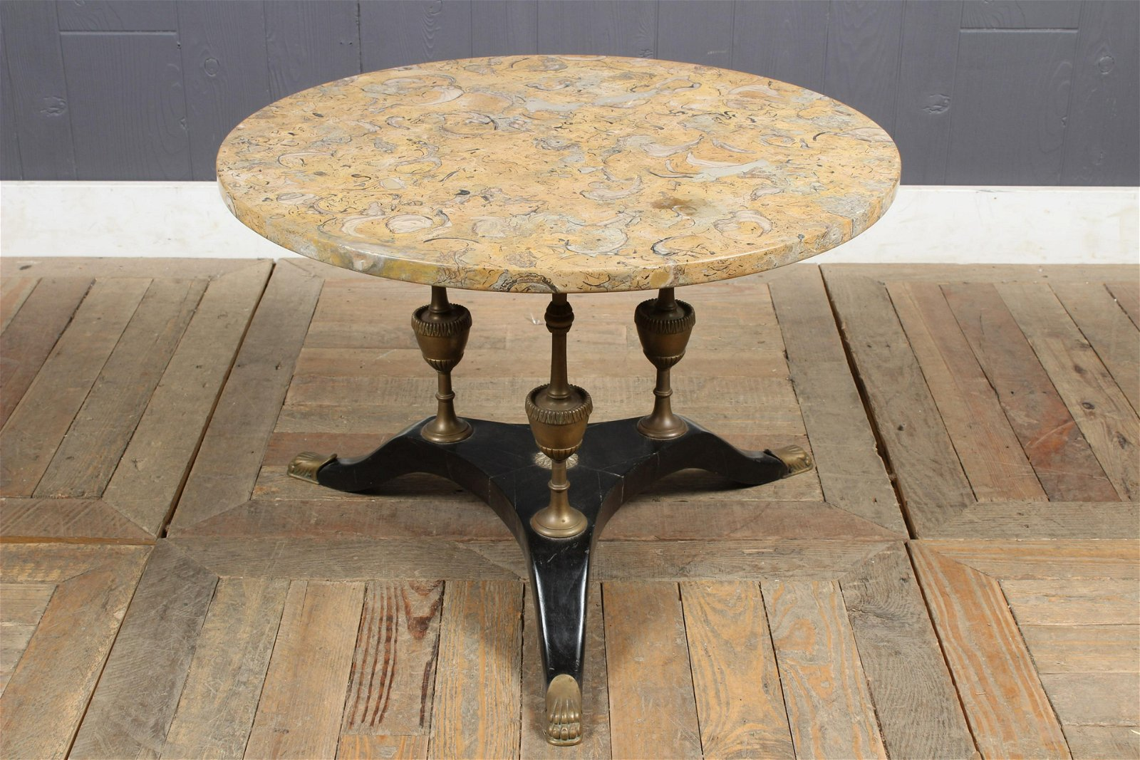 French Empire Style Marble Top Cocktail Table