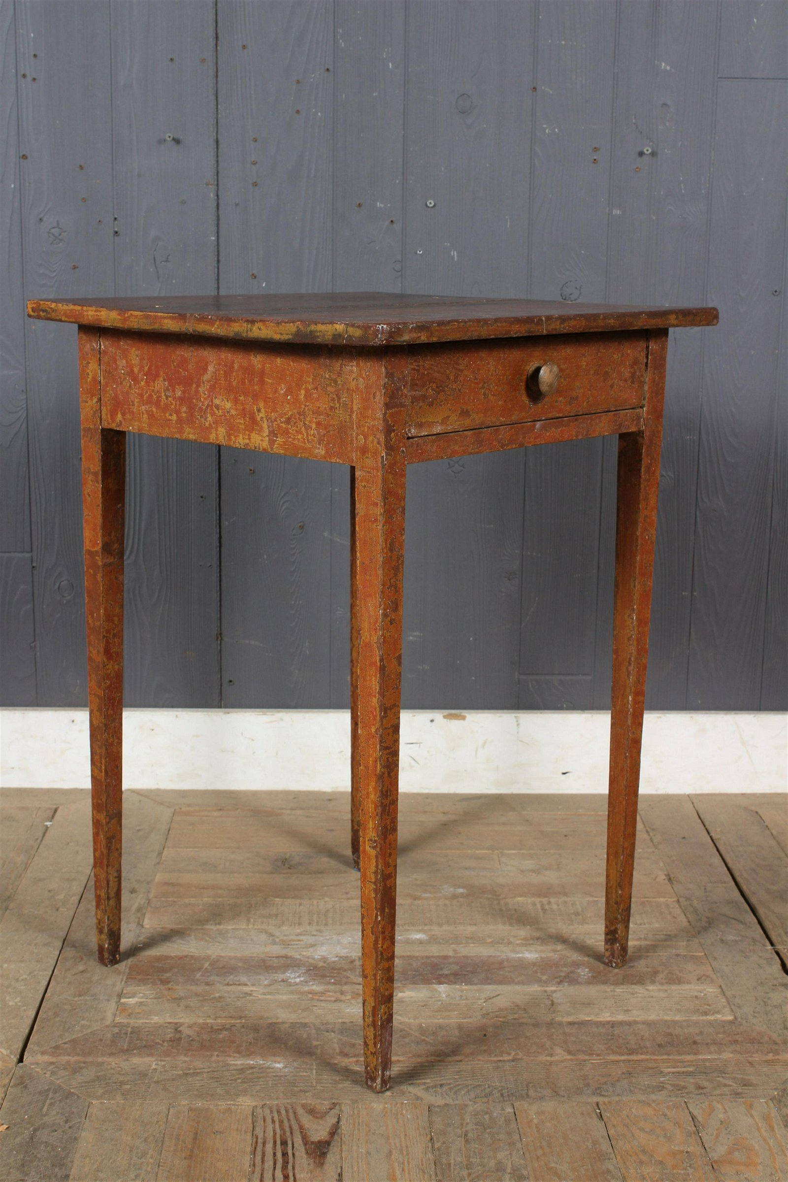 19th C. American Painted Single Drawer Stand