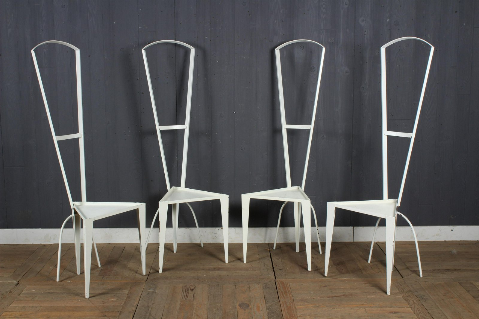 4 Steel Memphis Style Chairs