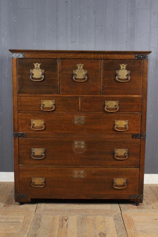 Korean Campaign Style Chest of Drawers