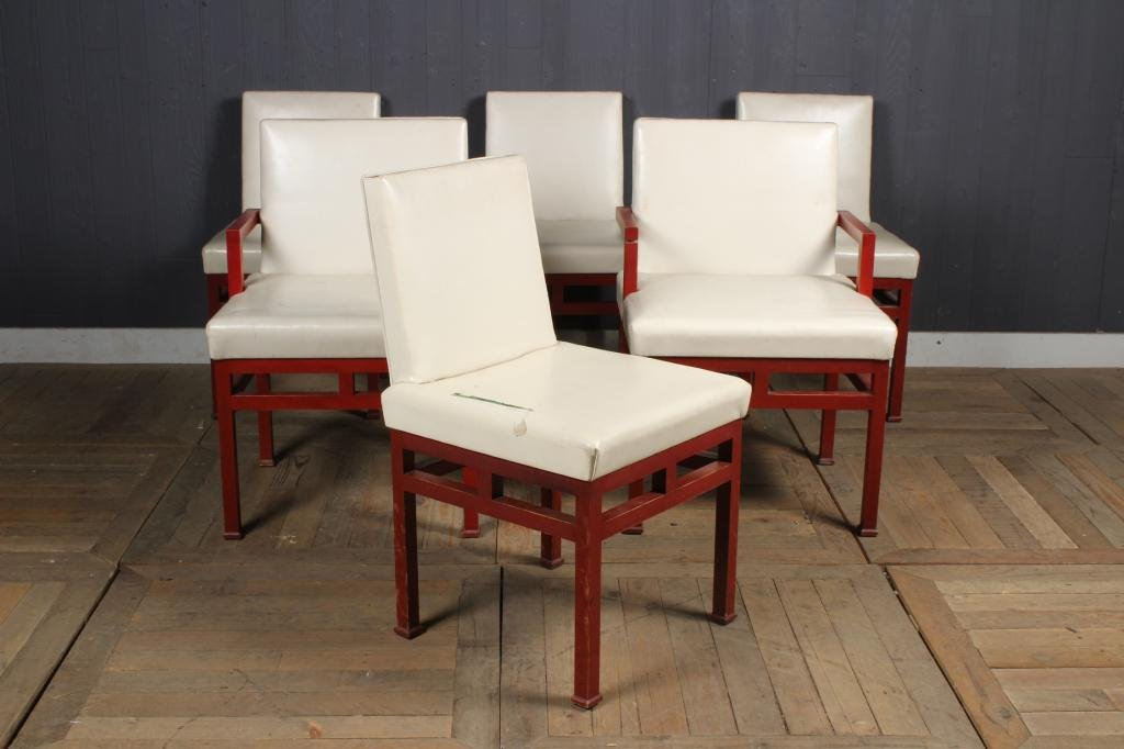 Suite of 6 James Mont Style Dining Chairs