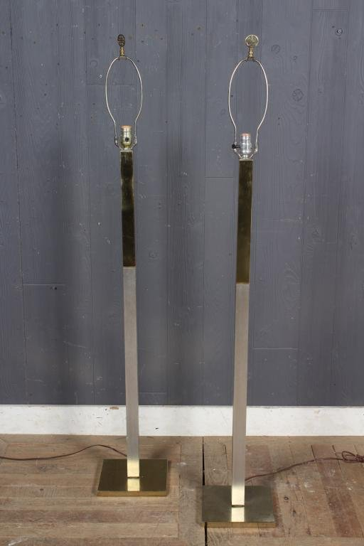 Pair Paul Evans Style Laurel Floor Lamps