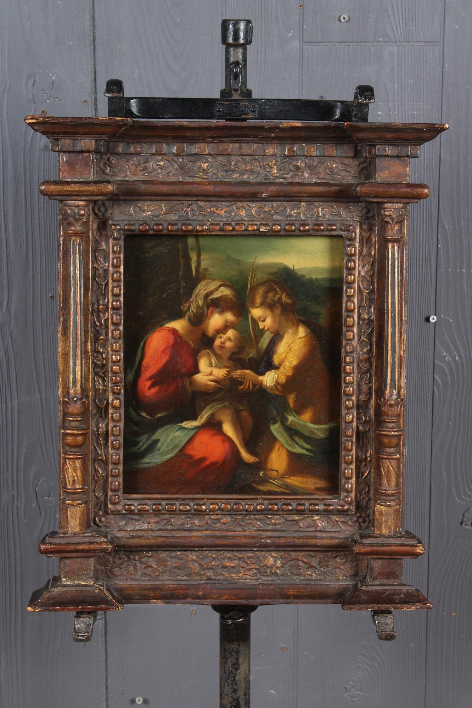 Antique Old Masters Painting after Correggio