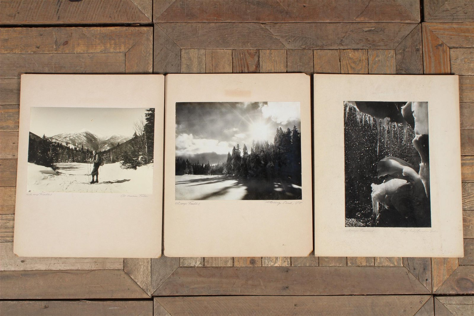3 Photographs by George Fredrick (?)
