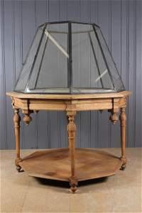 Continental Octagonal Vitrine Display Table