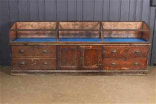 Country Store Slant Top Display Counter