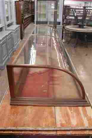 Large Counter Top Waterfall Glass and Oak Display
