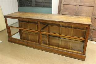 Oak and Glass 2 Tier Display Counter